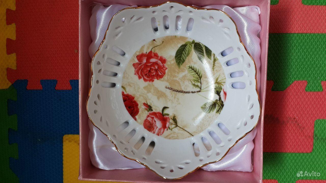 Фарфоровая конфетница блюдо для сладостей.  Москва