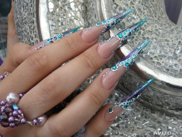 Ногти дизайн фото стилеты