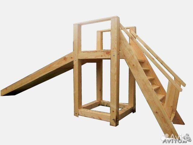 Как построить детскую деревянную горку своими руками 99