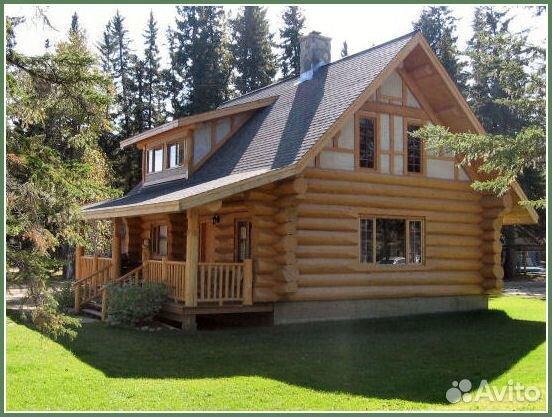 Бревенчатый дом с террасой в категории Ремонт и строительство.