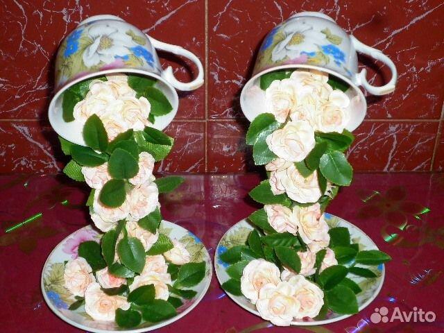 Чашки с цветами своими руками фото 64
