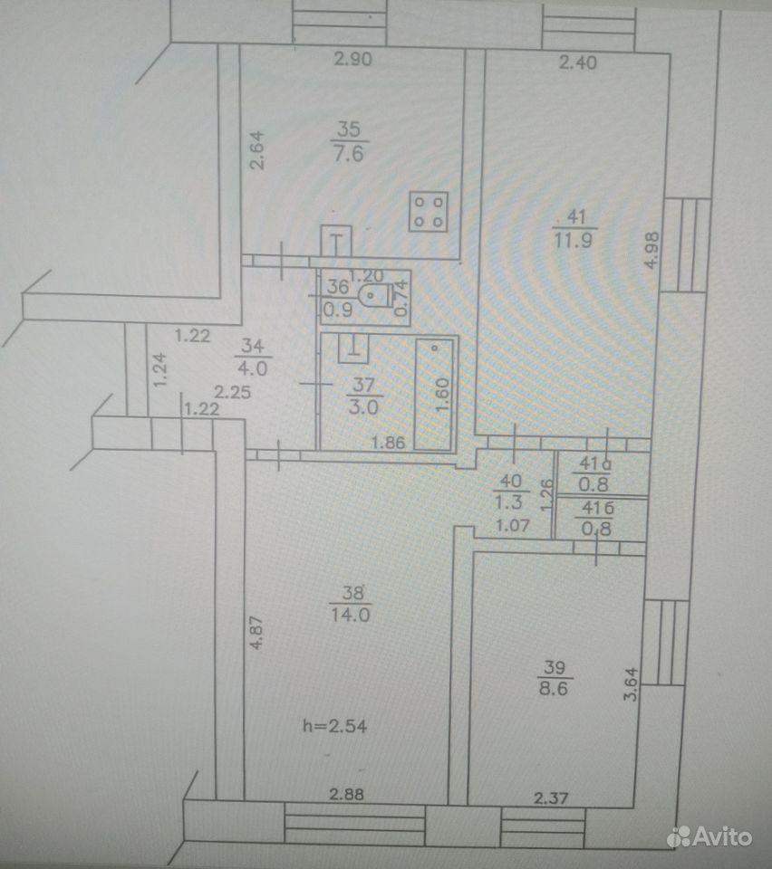 3-к квартира, 52.9 м², 1/2 эт.