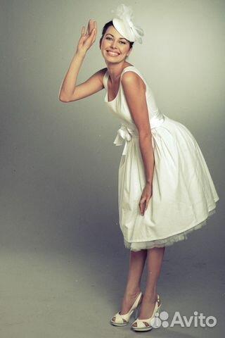 Платье ретро белое купить