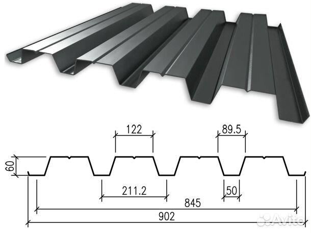 металлопрофиль стеновой размеры