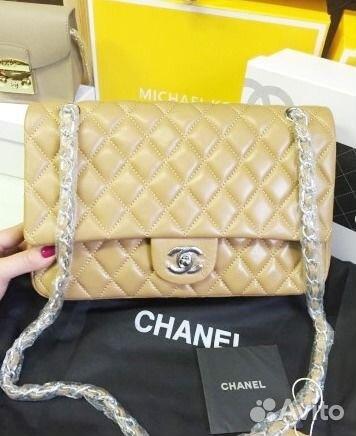 Сумка женская Шанель беж: 180 грн - сумки средних