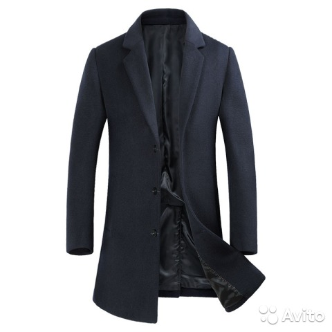 6dc6e3bca25 Пальто мужское шерстяное зимнее Классика черное