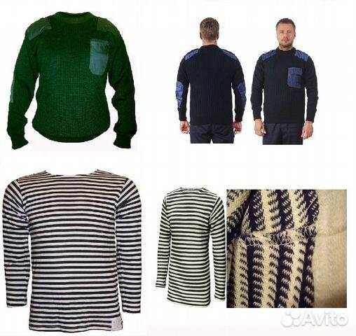 Тельняшка зимняя морская свитер полиция армейский fb9756ee820