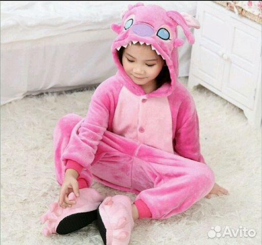 Кигуруми пижама детская Ститч розовый  a9b1823dbac95