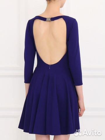 6f8543ed9b4 Коктейльное Синее Платье с открытой спиной купить в Москве на Avito ...