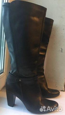 2a7a116a2f91 Женские черные кожаные сапоги 39 размера   Festima.Ru - Мониторинг ...