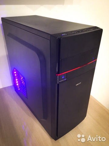 Игровой пк G4600 3,6GHz/8Gb/RX570/ssd60+hdd500
