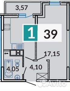 Продается однокомнатная квартира за 1 562 000 рублей. г Краснодар, ул им Евгении Жигуленко, д 5 к 1.