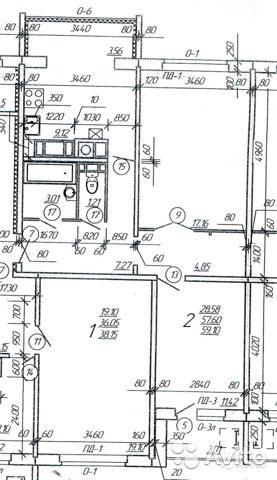2-к квартира, 60 м², 5/10 эт. 84812703307 купить 3