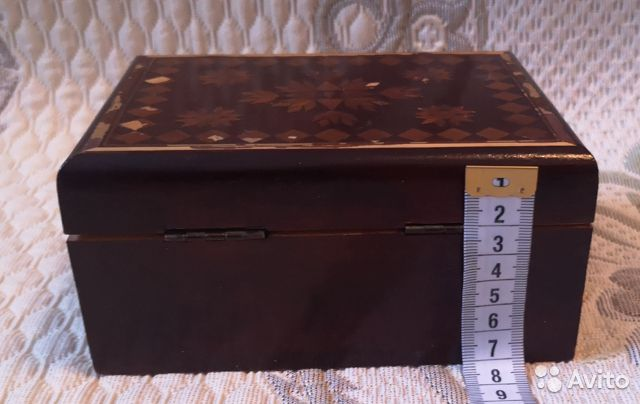 Деревянная шкатулка,СССР (16 см) 89137668817 купить 6