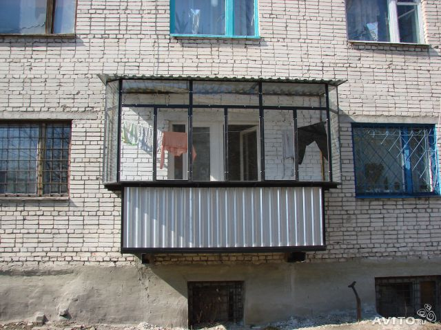 Ремонт металлических балконов.