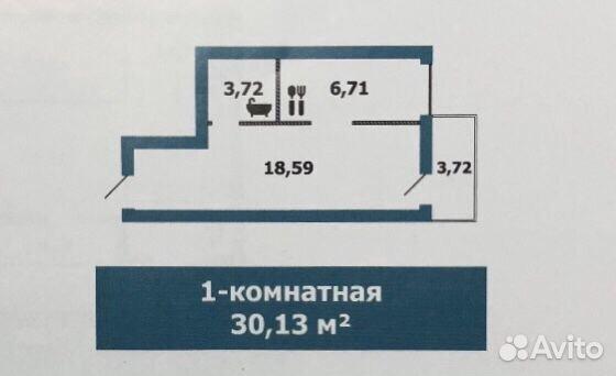 1-к квартира, 30.1 м², 3/3 эт. купить 1