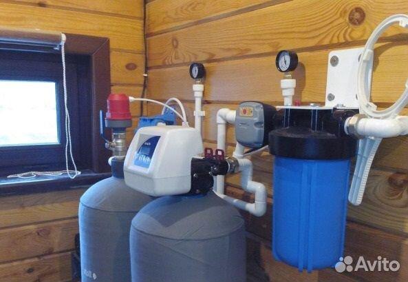 Система обезжелезивания реагентная. Фильтр воды купить 1