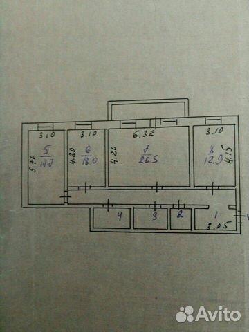 3-к квартира, 105 м², 4/5 эт. 89130327163 купить 4