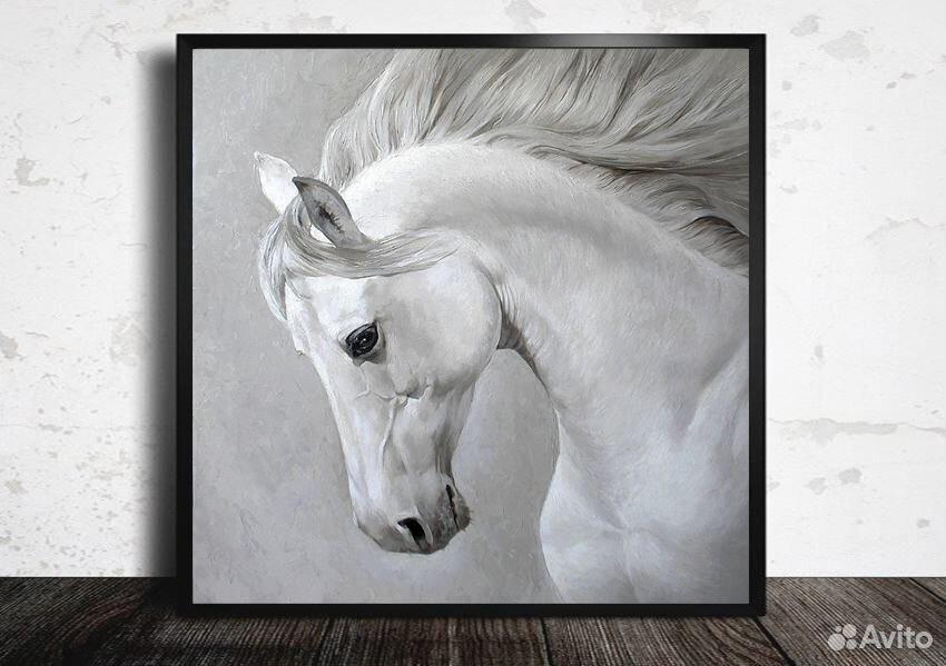 Картина с лошадью маслом на холсте 89139358050 купить 1