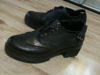 Туфли черные, кожанные