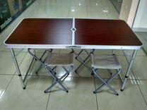 Складной стол усиленный 4 стула