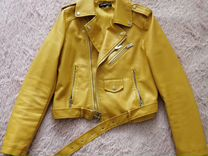 Куртка косуха горчичная