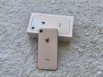 iPhone 8 64gb gold + полный комплект