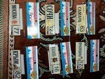 Комплект магнитиков на холодильник - автономера Мо — Коллекционирование в Саратове