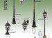 Уличный светильник-столб Arte Lamp A1017PA-3BN Ber