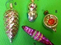 Елочные игрушки СССР (стекло)